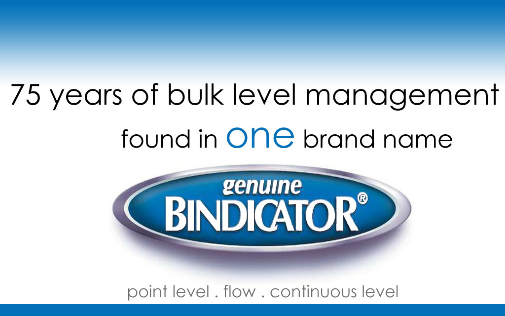 Point Level, Continuous Level, Dry Flow, Liquid Level, and Bulk Solid level measurement from Bindicator.