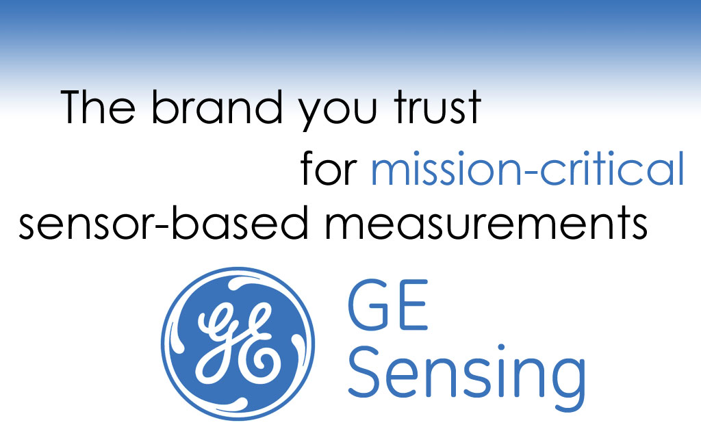 Mission-critical sensor products for CO2, Flow, Gas, Moisture, Humidity, Pressure, Level, Temperature, Turbidity, and more applications from GE Sensing