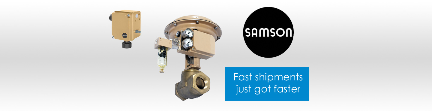 quick ship samson control valves and globe valves